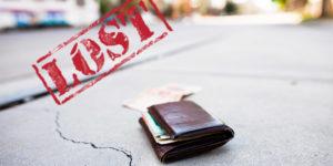 Portmonee verloren, was nun? Brieftasche wiederfinden